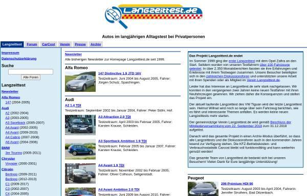 Vorschau von www.langzeittest.de, Langzeittest e.V.