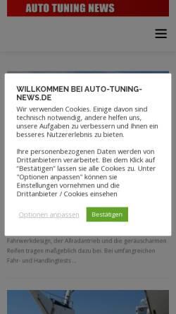 Vorschau der mobilen Webseite www.auto-tuning-news.de, Auto Tuning News