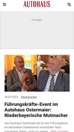 Vorschau der mobilen Webseite www.autohaus.de, Autohaus