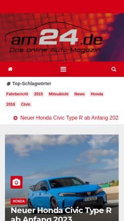 Vorschau der mobilen Webseite auto-magazin24.de, Auto-Magazin24