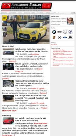 Vorschau der mobilen Webseite www.automobil-blog.de, Automagazin 2.0