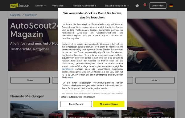 Vorschau von ww2.autoscout24.de, Automagazin von AutoScout24
