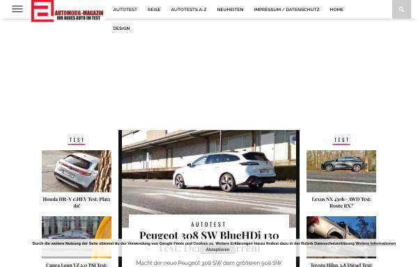 Vorschau von www.automobil-magazin.de, Automobil-Magazin.de
