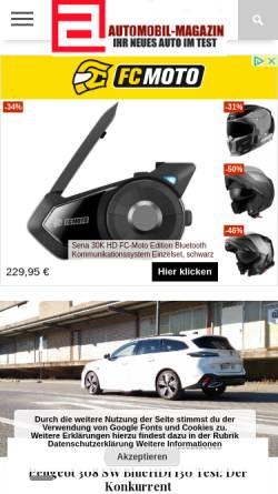 Vorschau der mobilen Webseite www.automobil-magazin.de, Automobil-Magazin.de