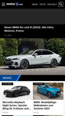 Vorschau der mobilen Webseite www.auto-news.de, Auto-News