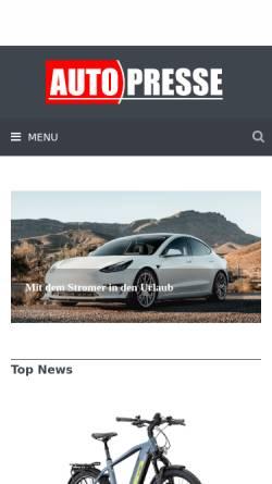 Vorschau der mobilen Webseite auto-presse.de, Auto-Presse.de