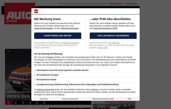 Vorschau von www.autozeitung.de, Autozeitung