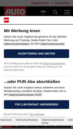 Vorschau der mobilen Webseite www.autozeitung.de, Autozeitung