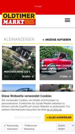 Vorschau der mobilen Webseite www.british-classic-cars-magazin.de, British Classic Cars