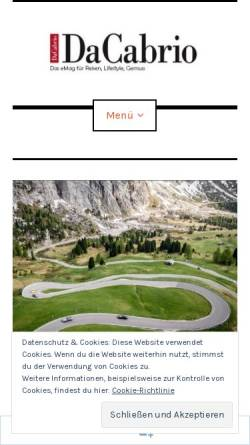 Vorschau der mobilen Webseite www.dacabrio.de, DaCabrio