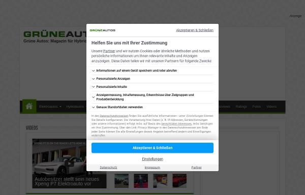 Vorschau von www.grueneautos.com, Grüne Autos Magazin