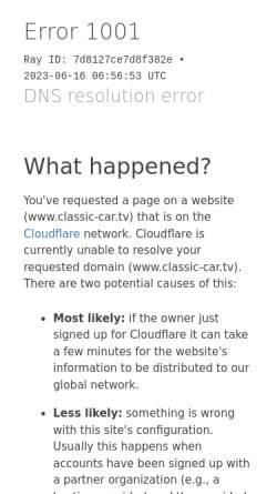 Vorschau der mobilen Webseite www.classic-car.tv, Oldtimer-TV