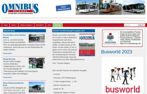 Vorschau von www.omnibusspiegel.de, Omnibusspiegel-Verlag