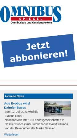 Vorschau der mobilen Webseite www.omnibusspiegel.de, Omnibusspiegel-Verlag