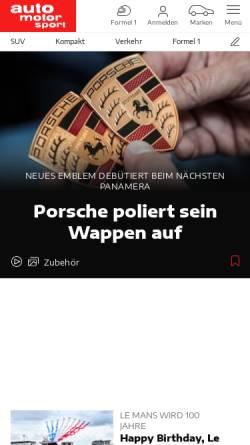 Vorschau der mobilen Webseite www.sportauto-online.de, sport auto