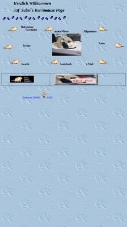 Vorschau der mobilen Webseite members.chello.at, Sabsis Rennmäuse Page