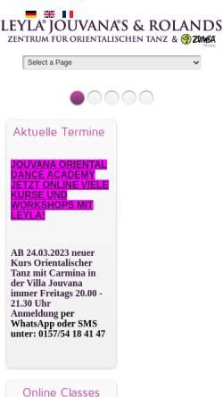 Vorschau der mobilen Webseite www.leyla-jouvana.de, Leyla Jouvana
