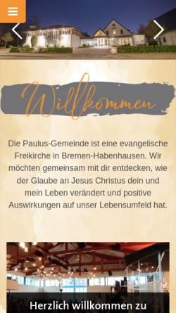 Vorschau der mobilen Webseite www.paulusgemeinde.de, Paulus-Gemeinde
