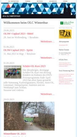 Vorschau der mobilen Webseite www.olcw.ch, OLC Winterthur
