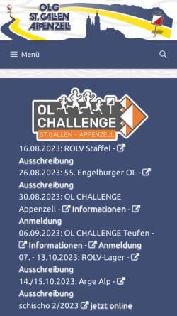 Vorschau der mobilen Webseite www.olgsga.ch, OLG St.Gallen/Appenzell