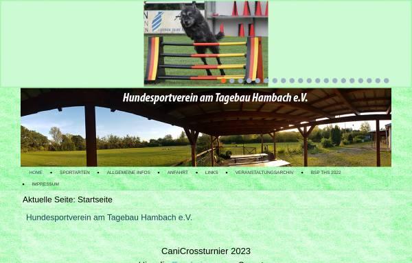 Vorschau von www.hundeverein-arnoldsweiler.de, MV Arnoldsweiler am Tagebau Hambach e.V.