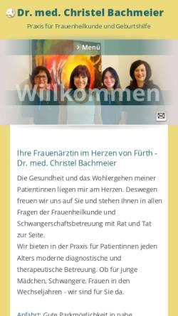 Vorschau der mobilen Webseite www.ihrefrauenaerztin.de, Bachmeier, Dr. med. univ. Christel und Pauthner, Dr. med. Stephanie