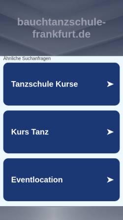 Vorschau der mobilen Webseite www.bauchtanzschule-frankfurt.de, Studio Orienta