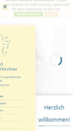 Vorschau der mobilen Webseite www.doktor-kirchner.de, Kirchner, Dr. med. Roland