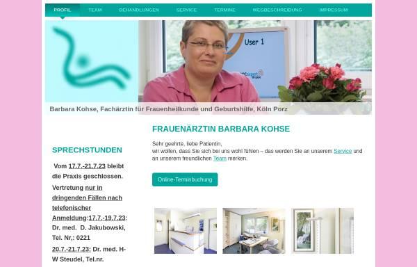 Vorschau von www.gyn-praxis-kohse.de, Kohse, Barbara