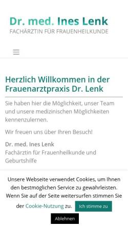 Vorschau der mobilen Webseite www.praxis-dr-lenk.de, Lenk, Dr. med. Ines