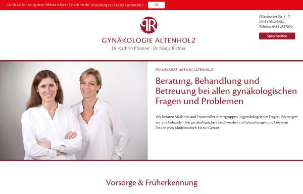 Vorschau von www.gynaekologie-altenholz.de, Gynäkologie Altenholz, Dr. Kathrin Pfisterer und Dr. Nadja Richter