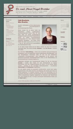 Vorschau der mobilen Webseite www.nagel-brotzler.de, Nagel-Brotzler, Dr. med. Almut