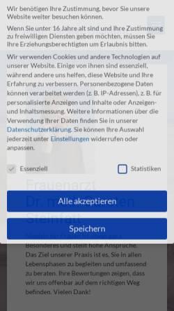 Vorschau der mobilen Webseite dr-steinfatt.de, Steinfatt, Dr. med. Carsten