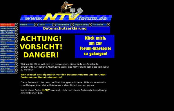 Vorschau von www.ntv-forum.de, NTV 650 Forum und Community