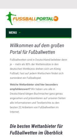 Vorschau der mobilen Webseite www.fussballportal.de, Fussballportal.de
