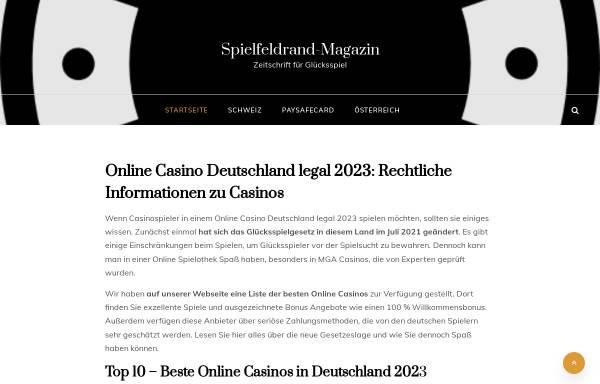 Vorschau von www.spielfeldrand-magazin.de, Spielfeldrand - Das Magazin