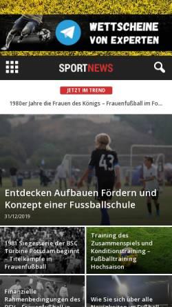 Vorschau der mobilen Webseite www.fussballschule-1.de, Fussballschule-1