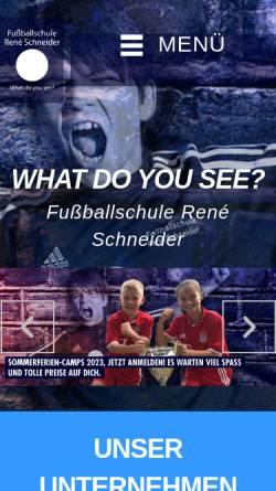 Vorschau der mobilen Webseite www.fussballschule-schneider.de, Fussballschule René Schneider