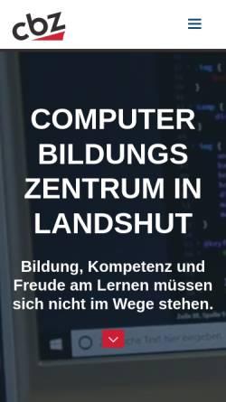 Vorschau der mobilen Webseite www.cbz.de, Computer-Bildungs-Zentrum in Landshut