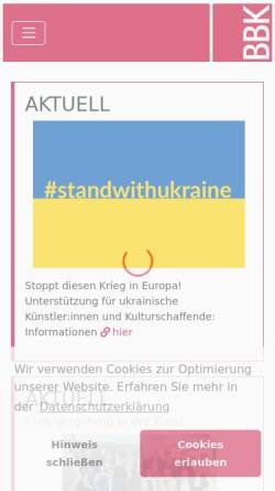 Vorschau der mobilen Webseite www.bbk-bundesverband.de, Bundesverband Bildender Künstler