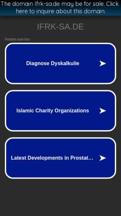 Vorschau der mobilen Webseite www.ifrk-sa.de, Initiative zur Förderung rechenschwacher Kinder in Sachsen-Anhalt e.V.