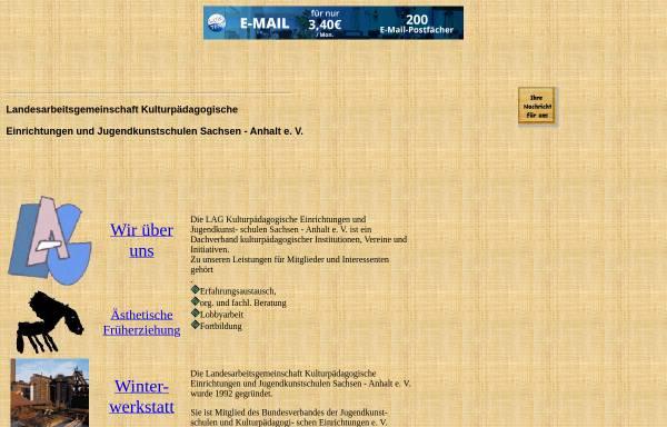 Vorschau von vereine.freepage.de, LAG Jugendkunstschulen Sachsen-Anhalt