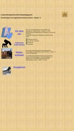 Vorschau der mobilen Webseite vereine.freepage.de, LAG Jugendkunstschulen Sachsen-Anhalt