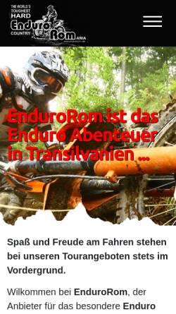 Vorschau der mobilen Webseite www.endurorom.de, EnduroRom - Alfred Broos