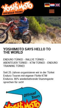 Vorschau der mobilen Webseite www.yoshimoto.de, Yoshimoto Off Road Touren Türkei