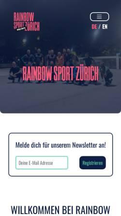 Vorschau der mobilen Webseite www.gaysport.ch, Gay Sport Zürich