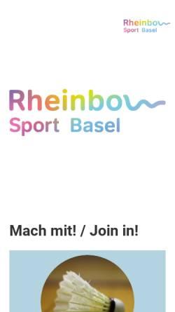 Vorschau der mobilen Webseite www.lgsportbasel.ch, lesbian & gay sport regio basel