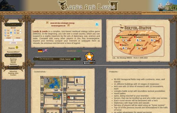 Vorschau von www.landsandlords.de, Lands & Lords