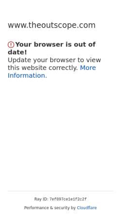 Vorschau der mobilen Webseite www.theoutscope.com, The Outscope