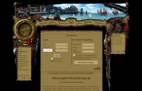 Vorschau von www.piratenkriege.de, Piratenkriege